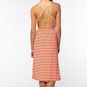 NWOT Reformed Dress Backless Orange Stripe SZ. L